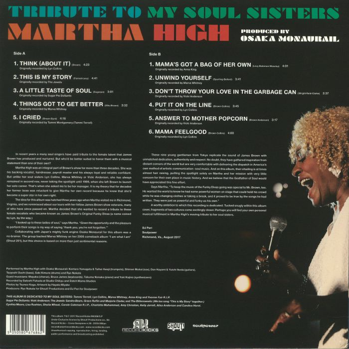 HIGH, Martha - Tribute To My Soul Sisters