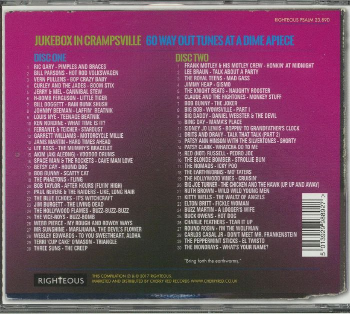 VARIOUS - Jukebox In Crampsville: 60 Way Out Tunes At A Dime A Piece