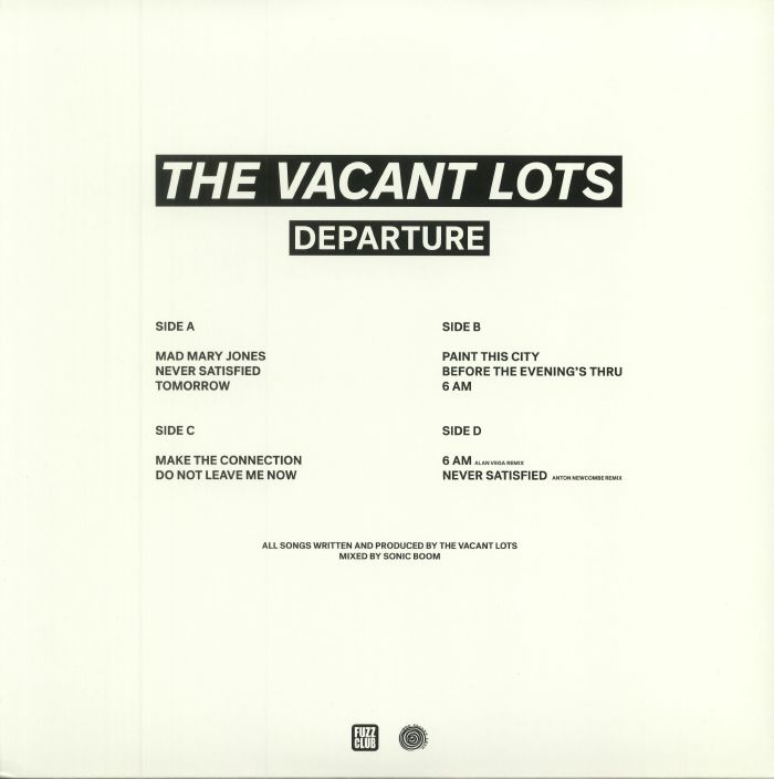 VACANT LOTS, The - Departure (reissue)