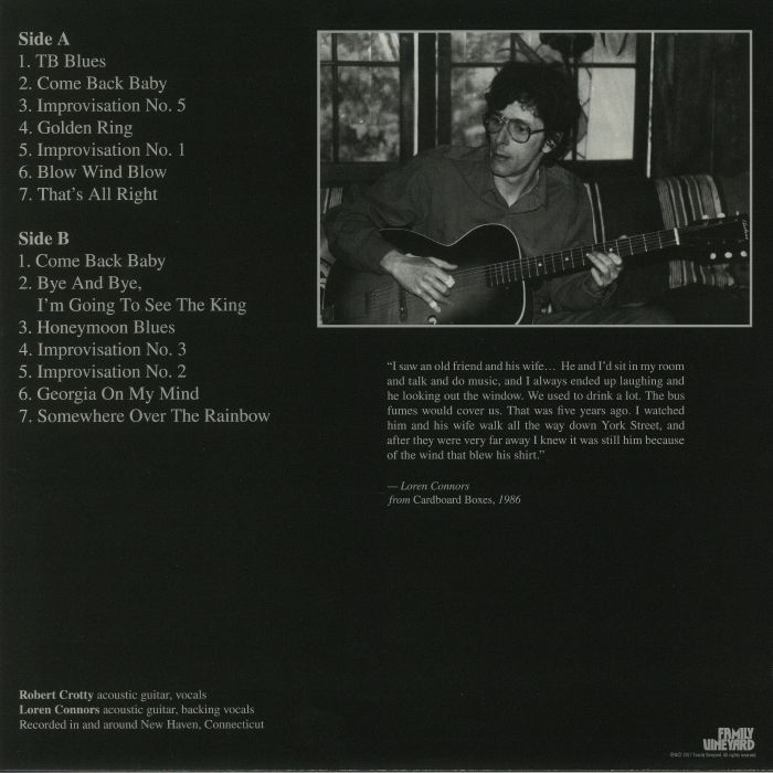 CROTTY, Robert/LOREN CONNERS - Robert Crotty With Me: Loren's Collection 1979-1987