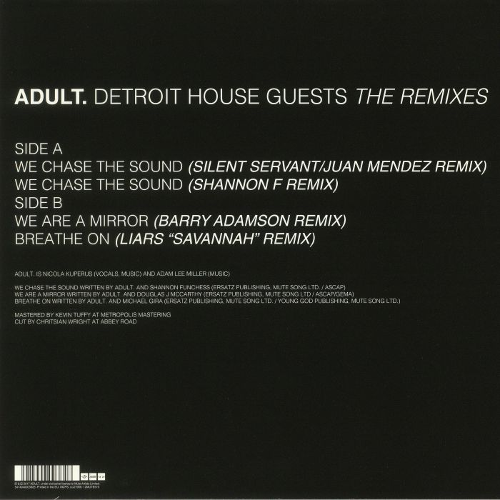 ADULT - Detroit House Guests: The Remixes
