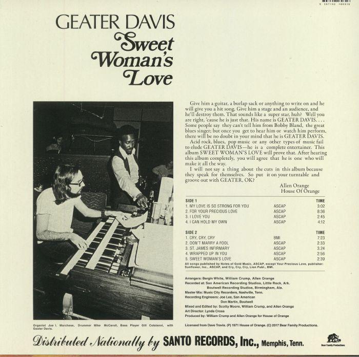 DAVIS, Geater - Sweet Woman's Love (reissue)