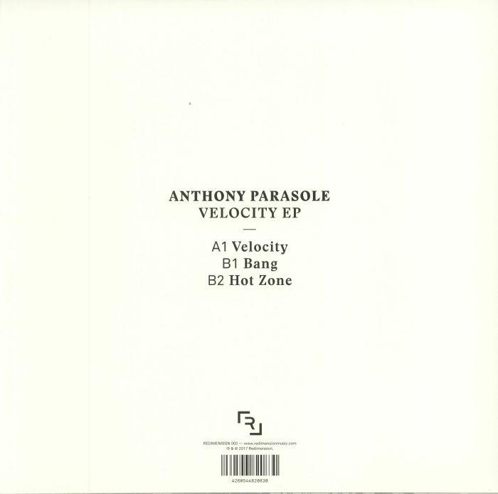 PARASOLE, Anthony - Velocity EP