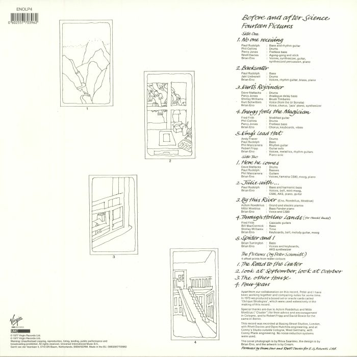 ENO, Brian - Before & After Science (reissue)
