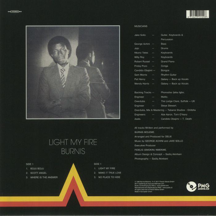 BURNIS - Light My Fire (reissue)