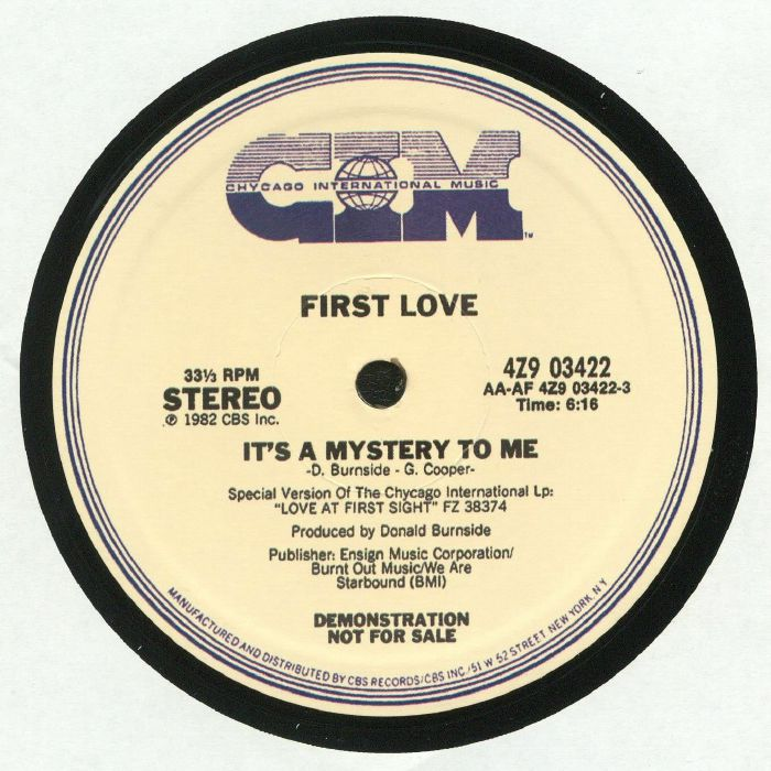 FIRST LOVE - It's A Mystery To Me (reissue)