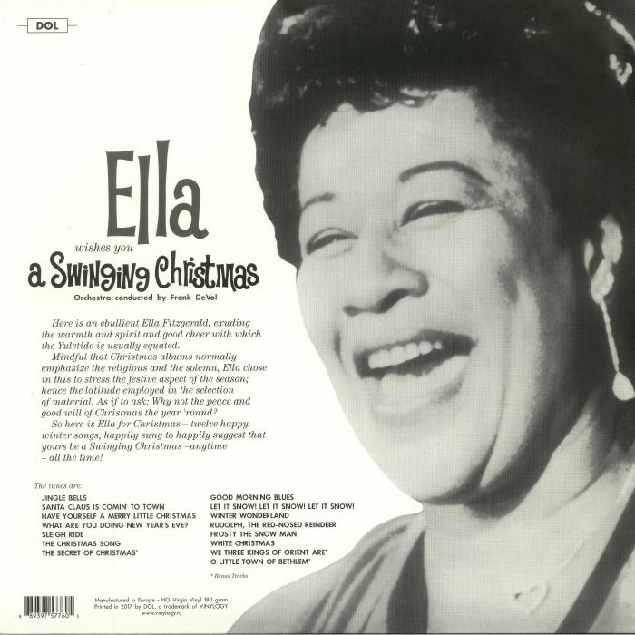 Ella Fitzgerald Ella Wishes You A Swinging Christmas Vinyl