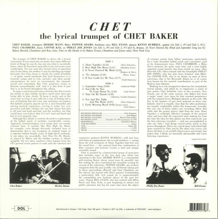 BAKER, Chet - Chet (reissue)