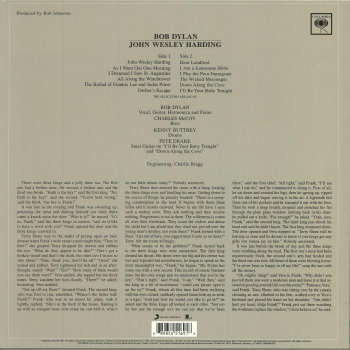 DYLAN, Bob - John Wesley Harding (reissue)