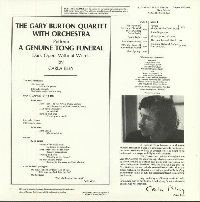 BURTON, Gary - A Genuine Tong Funeral