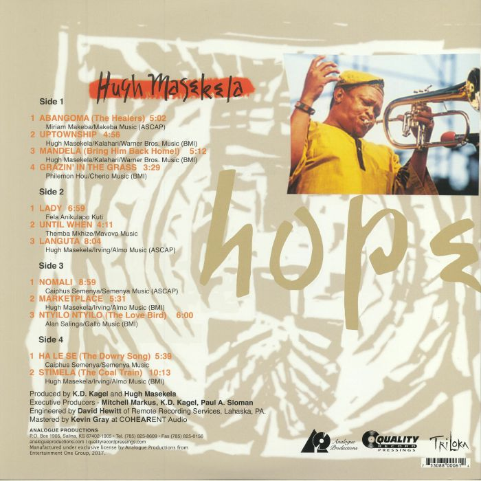 MASEKELA, Hugh - Hope (reissue)