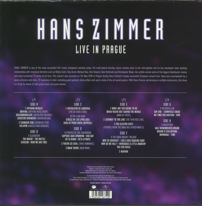 Hans Zimmer Live In Prague Vinyl At Juno Records