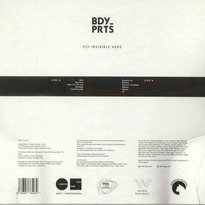 BDY PRTS - Fly Invisible Hero