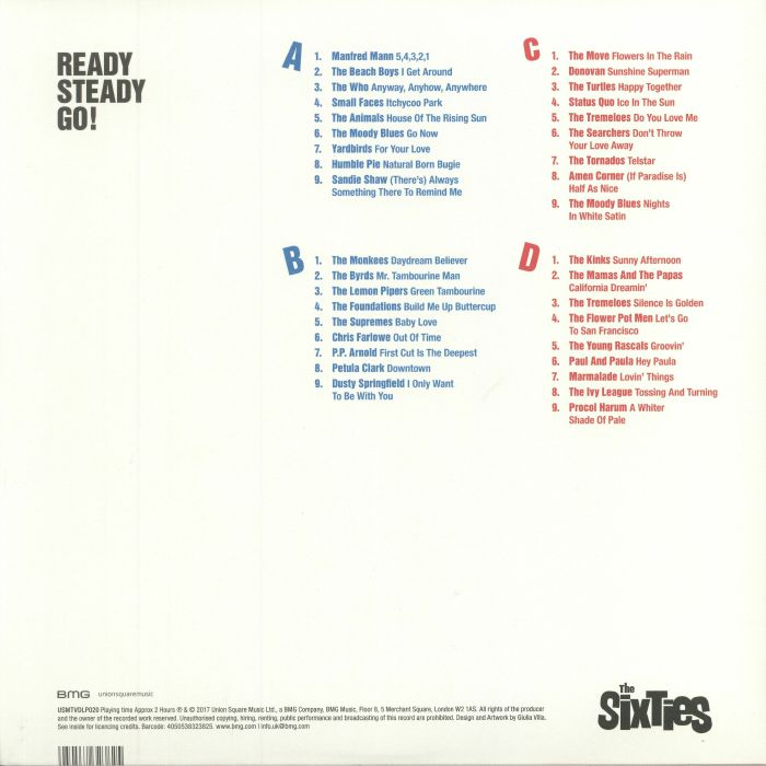 VARIOUS - Ready Steady Go! - The Sixties