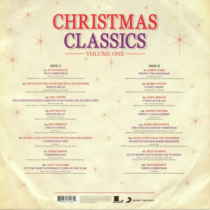 VARIOUS - Christmas Classics Volume 1