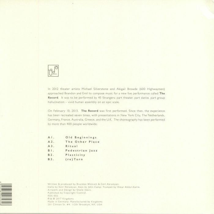 WOLCOTT, Brandon/EMIL ABRAMYAN - Music Of The Record