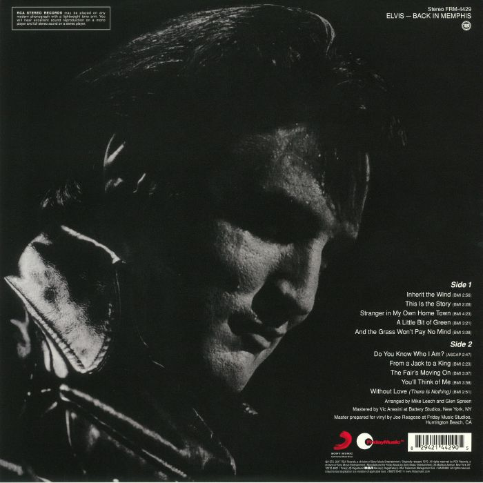 PRESLEY, Elvis - Back In Memphis (reissue)