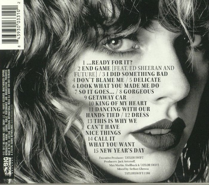 Swift Taylor Reputation Cd Ebay