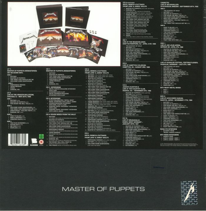 Metallica Master Of Puppets Deluxe Edition Reissue