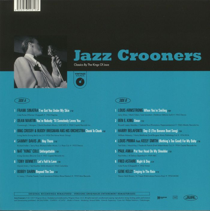 VARIOUS - Jazz Crooners: Classics By The Kings Of Jazz (remastered)