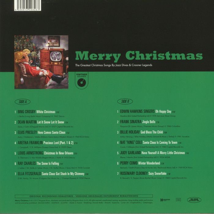 VARIOUS - Merry Christmas: The Greatest Christmas Songs By Jazz Divas & Crooner Legends