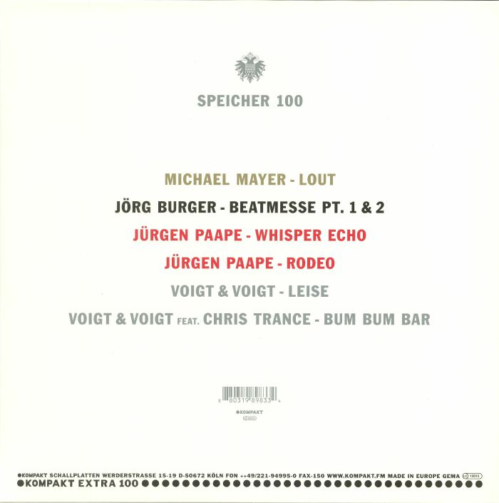 MAYER, Michael/JORG BURGER/JURGEN PAAPE/VOIGT & VIOGT - Speicher 100