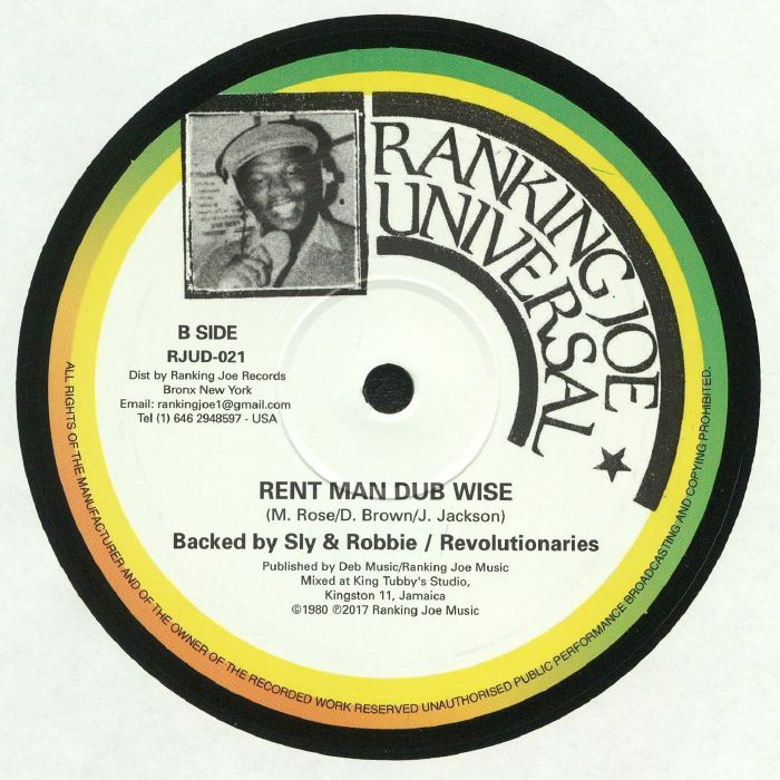 BLACK UHURU/RANKING JOE - Rent Man (reissue)