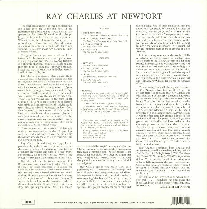 CHARLES, Ray - Ray Charles At Newport (reissue)