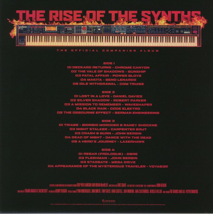 Various The Rise Of The Synths The Official Companion