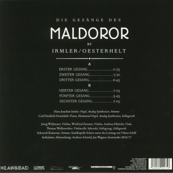 IRMLER, Hans Joachim/CARL FRIEDRICH OESTERHELT - Die Gesange Des Maldoror