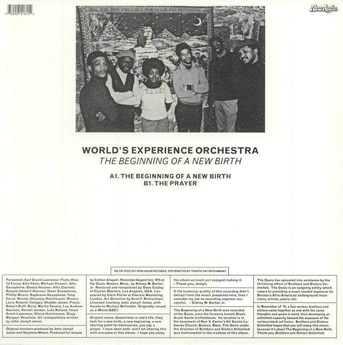 WORLD'S EXPERIENCE ORCHESTRA - The Beginning Of A New Birth