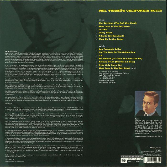 TORME, Mel - California Suite (reissue)