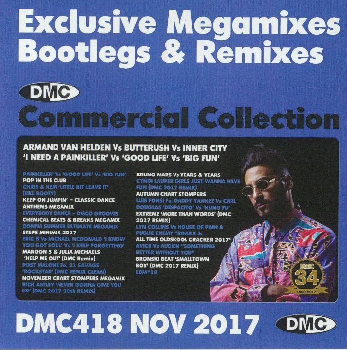VARIOUS - DMC Commercial Collection November 2017: Exclusive Megamixes Bootlegs & Remixes (Strictly DJ Only)