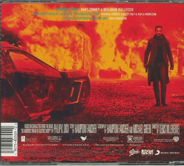 Hans Zimmer Benjamin Wallfisch Various Blade Runner 2049