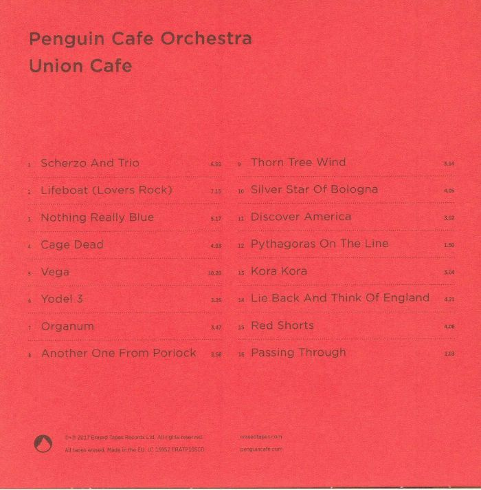 PENGUIN CAFE ORCHESTRA - Union Cafe (reissue)