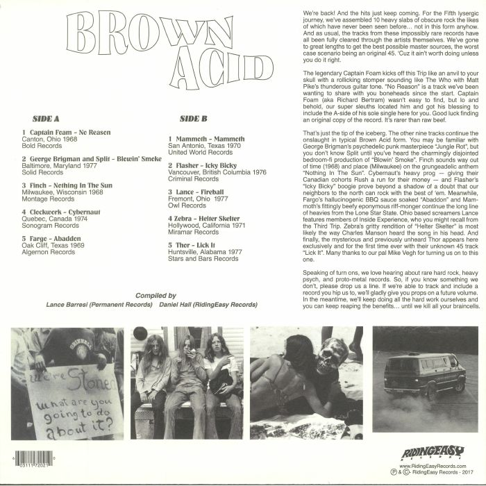 BARRESI, Lance/DANIEL HALL/VARIOUS - Brown Acid: The Fifth Trip