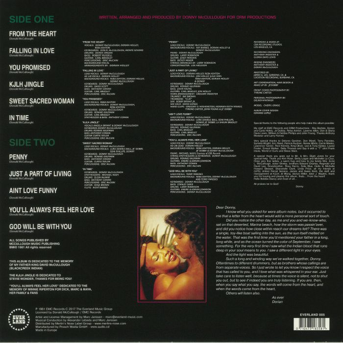 McCULLOUGH, Donny - From The Heart (reissue)