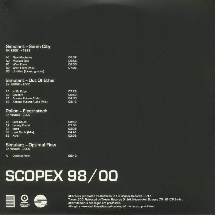 SIMULANT/POLLON - Scopex 98-00