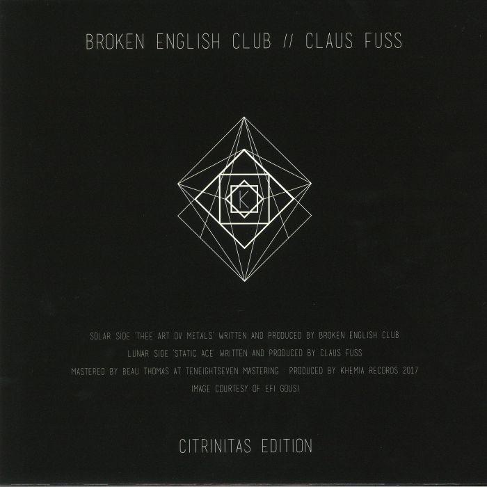 BROKEN ENGLISH CLUB/CLAUS FUSS - Citrinitas Edition