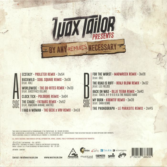 WAX TAILOR - By Any Remixes Necessary