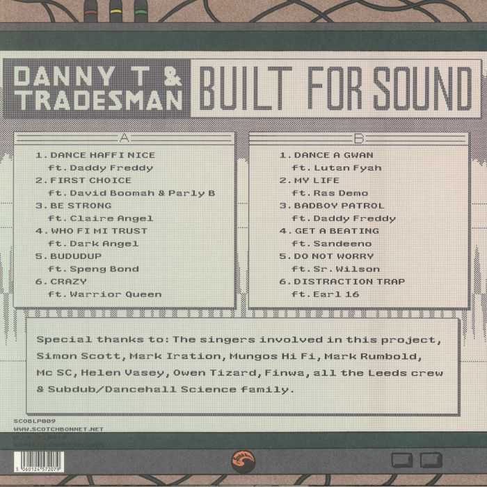 DANNY T/TRADESMAN - Built For Sound