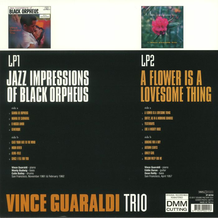 VINCE GUARALDI TRIO - Jazz Impressions Of Black Orpheus & A Flower Is A Lovesome Thing: Two Original Albums (remastered)
