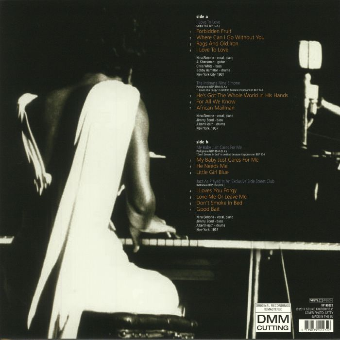 SIMONE, Nina - I Love To Love: An EP Selection