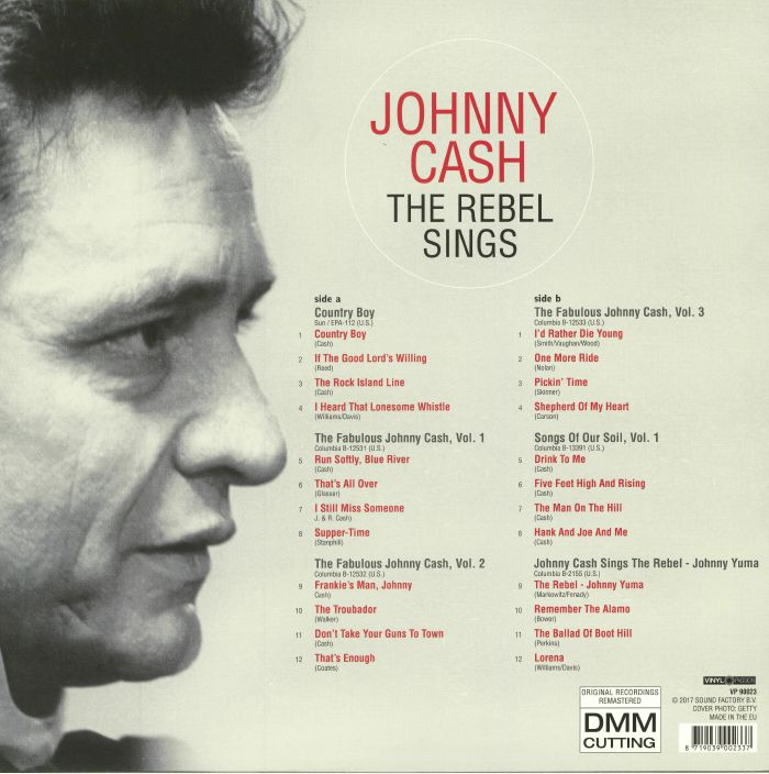 CASH, Johnny - Rebel Sings: An EP Selection