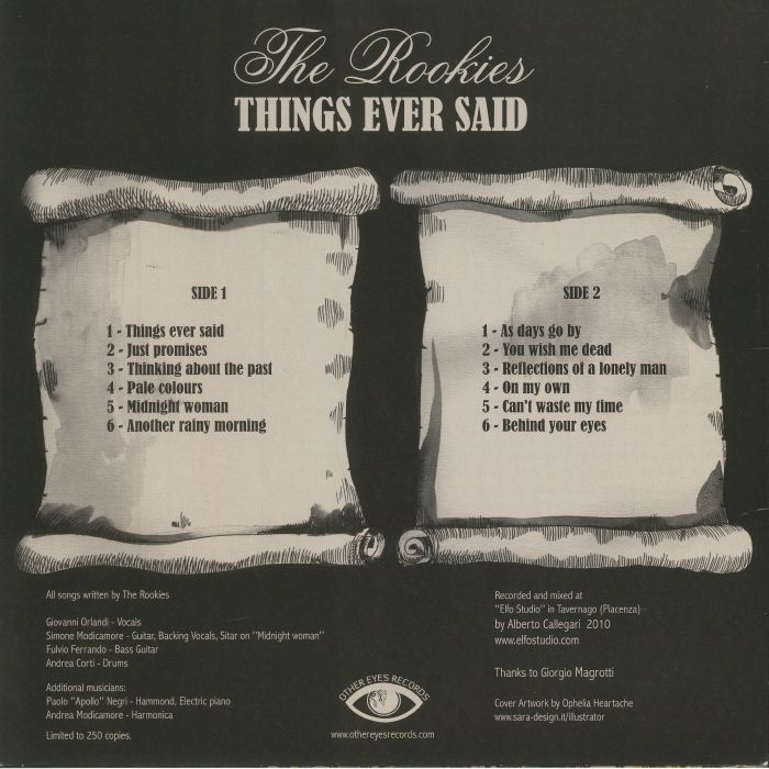 ROOKIES, The - Things Ever Said