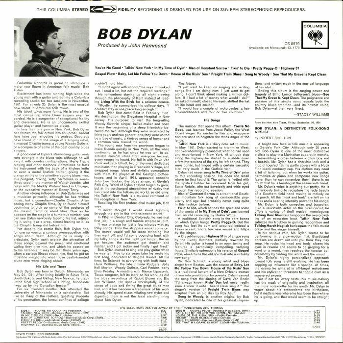 Bob DYLAN Bob Dylan (reissue) vinyl at Juno Records