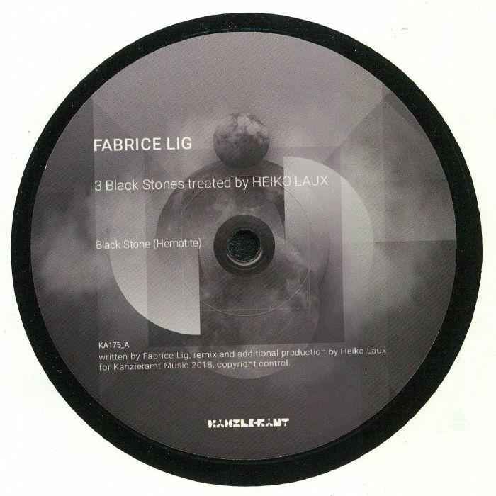 LIG, Fabrice - 3 Black Stones Treated By Heiko Laux