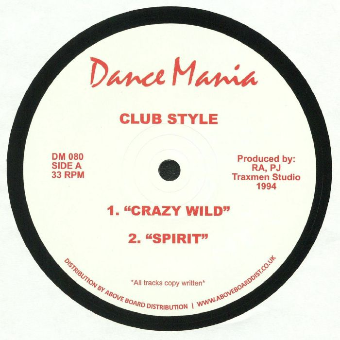 CLUB STYLE - Crazy Wild (reissue)