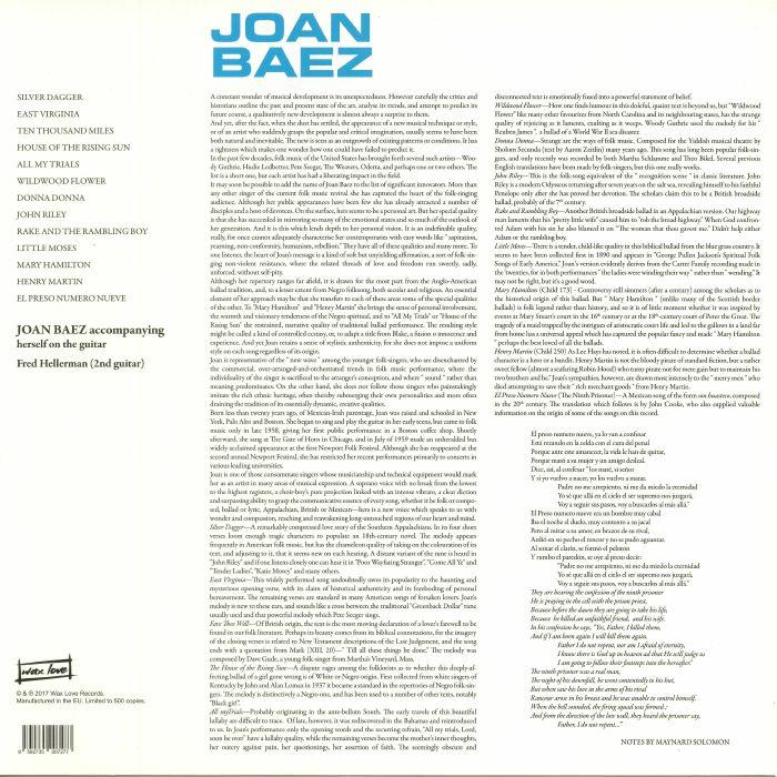 BAEZ, Joan - Joan Baez