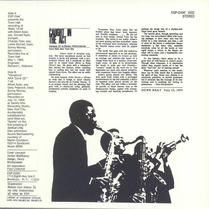 AYLER, Albert - Bells (reissue)
